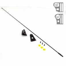 Black Replacement Antenna Kit, fits 1976-86 Jeep CJ and 1987-95 Wrangler YJ
