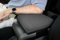 Neoprene Arm Rest Cover, Black with Gray, 07-10 Jeep Wrangler by Rugged Ridge