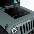 Barbed Wire Hood Decal for 2007-2017 Jeep Wrangler JK