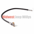 "Battery cable, battery to solenoid, black, 27"" long, 1-gauge wire, 1945-1971 Willys Pickup, Station Wagon and Jeep CJ models"