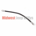 """Battery cable, solenoid to starter, black, 19"""" long, 1-gauge wire, 1945-1971 Willys Pickup, Station Wagon and Jeep CJ models"""