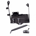 Black Battery Tray Kit, fits 1976-1986 Jeep CJ5, CJ7, CJ8 Scrambler Models
