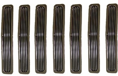 Billet Grille Inserts, Chrome, 87-95 Jeep Wrangler by Rugged Ridge
