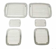 Stone Guard Set, Billet-Style, 87-95 Jeep Wrangler by Rugged Ridge