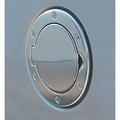 Non-Locking Gas Cap Door, Polished Aluminum, 97-06 Jeep Wrangler by Rugged Ridge