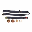 Black 60 Inch Front or Rear Lap Seat Belt, 1987-95 Jeep Wrangler