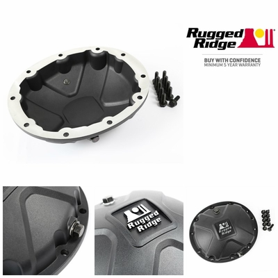 Black Boulder Aluminum Differential Cover, fits 87-06 Jeep Wrangler, 84-01 Cherokee XJ, 93-04 Grand Cherokee with Dana 35 Axles