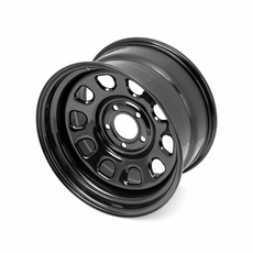 Black D Window Wheel, 15 inch X 8 inches, 5 x 4.5-inch bolt pattern by Rugged Ridge