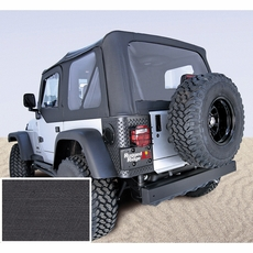 XHD Soft Top, Black, Clear Windows, 97-06 Jeep Wrangler by Rugged Ridge