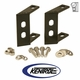Black Painted Steel Rear Bumper Bracket Set fits 1945-1986 Jeep CJ Models by Kentrol