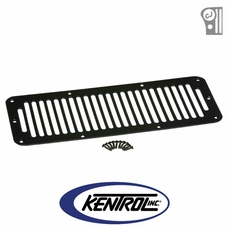 Black Powder Coated Stainless Hood Vent fits 1978-1986 Jeep CJ Models by Kentrol