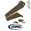 Black Powder Coated Stainless Tailgate Tire Stop fits 1976-1995 Jeep CJ & YJ Wrangler by Kentrol