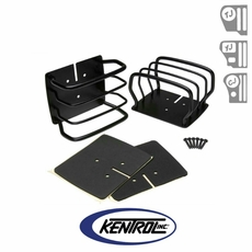 Black Powder Coated Stainless Taillight Guard Set fits 1976-2006 Jeep CJ, Wrangler YJ, & TJ by Kentrol