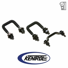 Black Powder Coated Stainless Windshield Tie Down Kit fits 1955-1986 Jeep CJ Models by Kentrol
