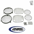 Black Powder Coated Stainless Wire Mesh Guard Set, 6 pieces, fits 1976-1986 Jeep CJ Models by Kentrol