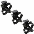 Black X-Clamp, 3 Pieces, 2.25-3 Inches by Rugged Ridge