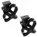 Black X-Clamp, Pair, 2.25-3 Inches by Rugged Ridge