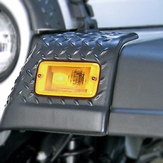 Front Fender Guards, Body Armor, 97-06 Jeep Wrangler by Rugged Ridge