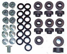 Body Mount Bushing Kit (Polyurethane), 1976-1983 CJ5, 1976-1986 CJ7, 1981-1986 CJ8