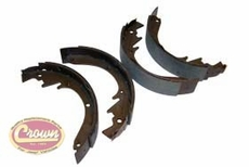 "Brake Shoe Set, Front or Rear, for 10"" x 2"" Brakes, 1967-1971 Jeepster Commando C101"