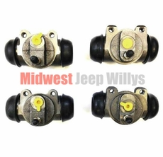 Brake Wheel Cylinder Set, 2 Left Side & 2 Right Side for Dodge M37, M43