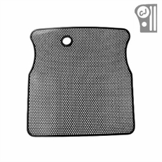 Radiator Bug Shield, Black, 55-86 Jeep CJ Models by Rugged Ridge