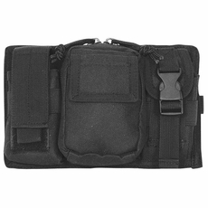 Cargo Seat Cover Black Molle Triple Panel Pouch