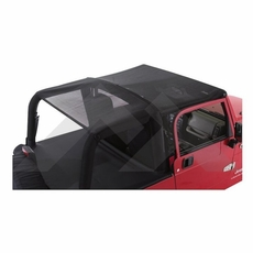 RT Off-Road Black Mesh Combo Beach Topper for 2007-2016 Jeep Wrangler JK 4 Door