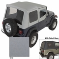 XHD Soft Top, Charcoal, Tinted Window, 88-95 Jeep Wrangler  by Rugged Ridge
