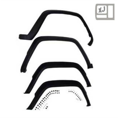 4 Piece Fender Flare Kit for 1984-1996 Jeep Cherokee XJ