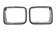 Chrome Headlight Bezel Pair, fits 1987-95 Jeep Wrangler YJ