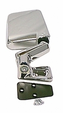 Door Mirror, Chrome, Right Side, 87-02 Jeep Wrangler by Rugged Ridge