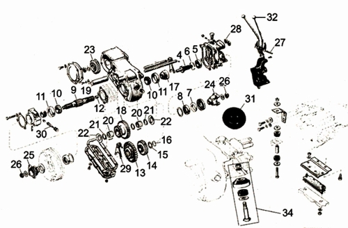 CJ3A Transfer Case Parts