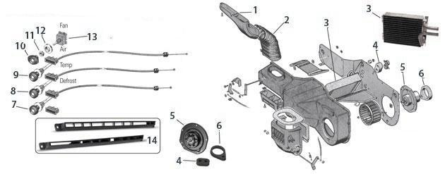 jeep cj5  cj7  u0026 cj8 heater system parts from midwest jeep