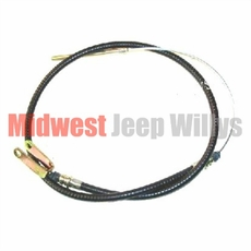 """Clutch Release Cable 58-1/4"""" long, Fits 1966-1971 CJ5, CJ6 with V6-225 engine"""