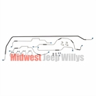 Complete Formed Steel Brake Line Kit,  Fits 1943-1945 Willys MB, Ford GPW