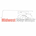 Complete Formed Steel Brake Line Kit, Fits 1955-1965 Jeep CJ5 with 9 Inch Brakes