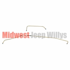 Complete Formed Steel Fuel Line Kit, Fits 1945-1949 Willys Jeep CJ2A Models