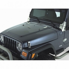 Complete Hood Kit, Satin Stainless Steel, 98-06 Jeep Wrangler by Rugged Ridge