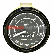 Complete Speedometer Assembly 0-60 mph, Fits 1945-56 Willys Jeep CJ2A, CJ3A, CJ3B