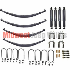 Complete Suspension Rebuild Kit, Fits 1941-1945 Willys Jeep MB, Ford GPW