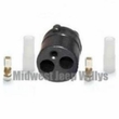 Rubber Shell Connector Kit Male End with Double Terminal for Brake Light Switch