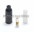 10 Pack of Rubber Shell Connector Kit Male End, Ribbed Shell with 14 Gauge Wire, MS27144-3