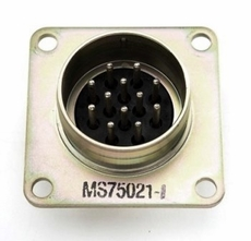 12 Male Pin Flange Mount Military Trailer Receptacle, Wires not included