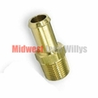 Brass Coolant Bypass Fitting for 1950-1971 Willys Jeep M38 & M38A1 Models
