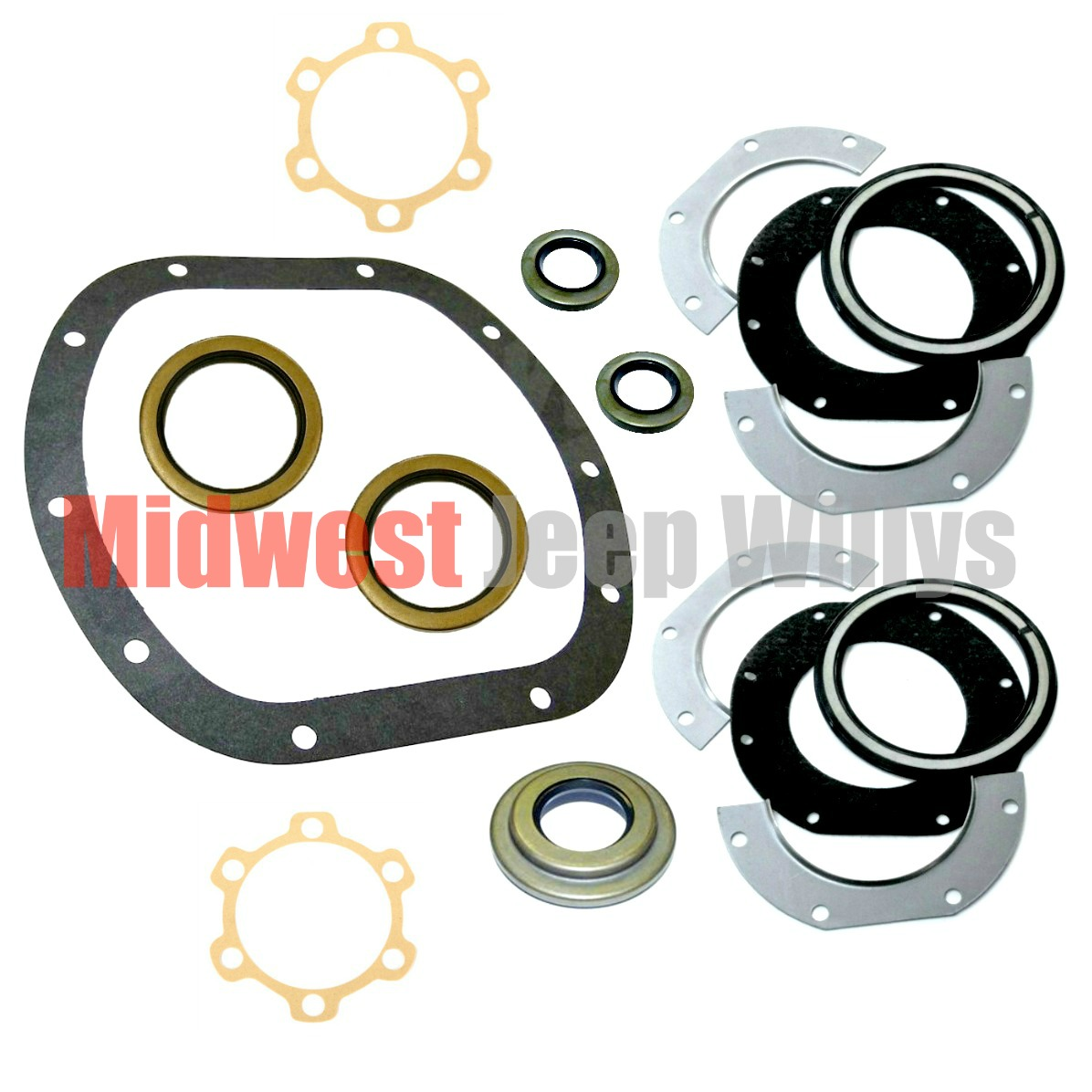 Dana 25 27 Axle Gasket And Seal Kit For 1941 1966 Jeep To 1952 Willys Models