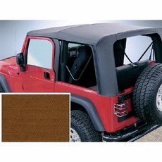 XHD Soft Top, Tan, Clear Windows, 97-06 Jeep Wrangler by Rugged Ridge