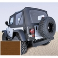 XHD Soft Top, Dark Tan, Clear Windows, 97-06 Jeep Wrangler by Rugged Ridge