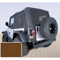 XHD Soft Top, Tan, Tinted Windows, 97-06 Jeep Wrangler by Rugged Ridge