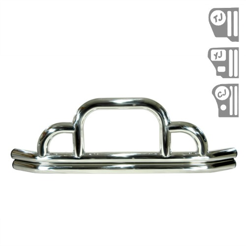 defender front bumper  stainless steel  55
